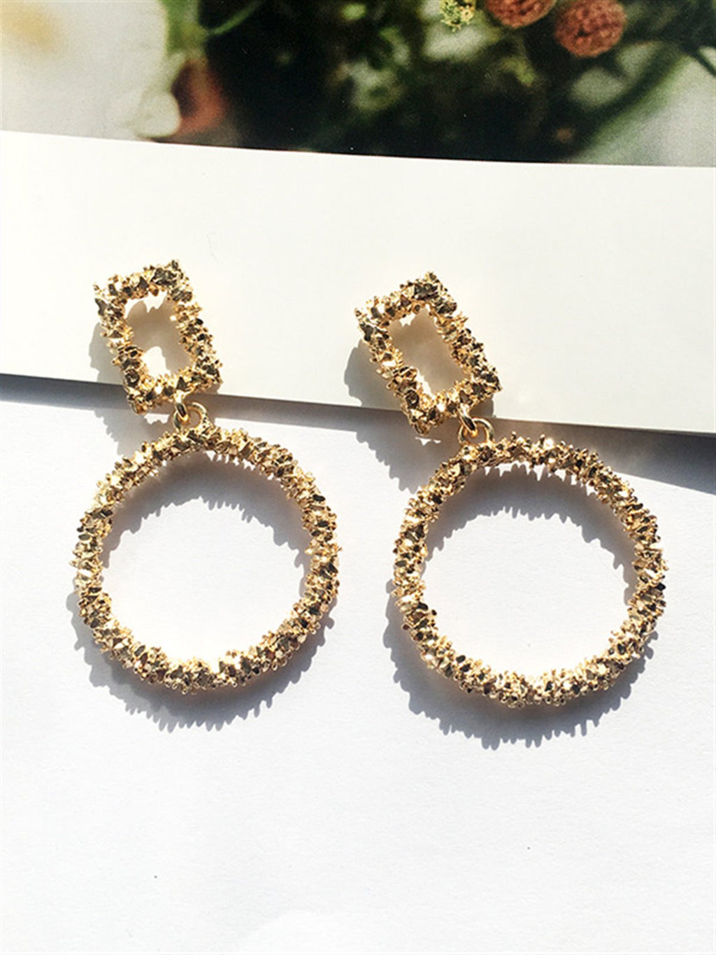 Casual Basic Gentle Classic Golden Metal Earings