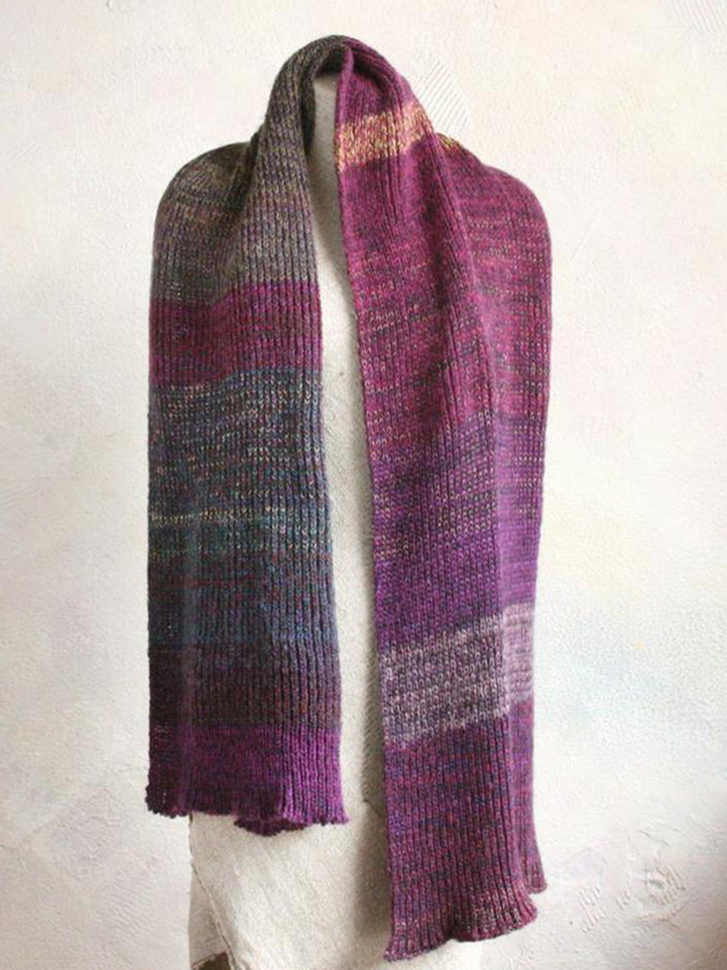 Purple Casual Cotton Geometric Scarves & Shawls