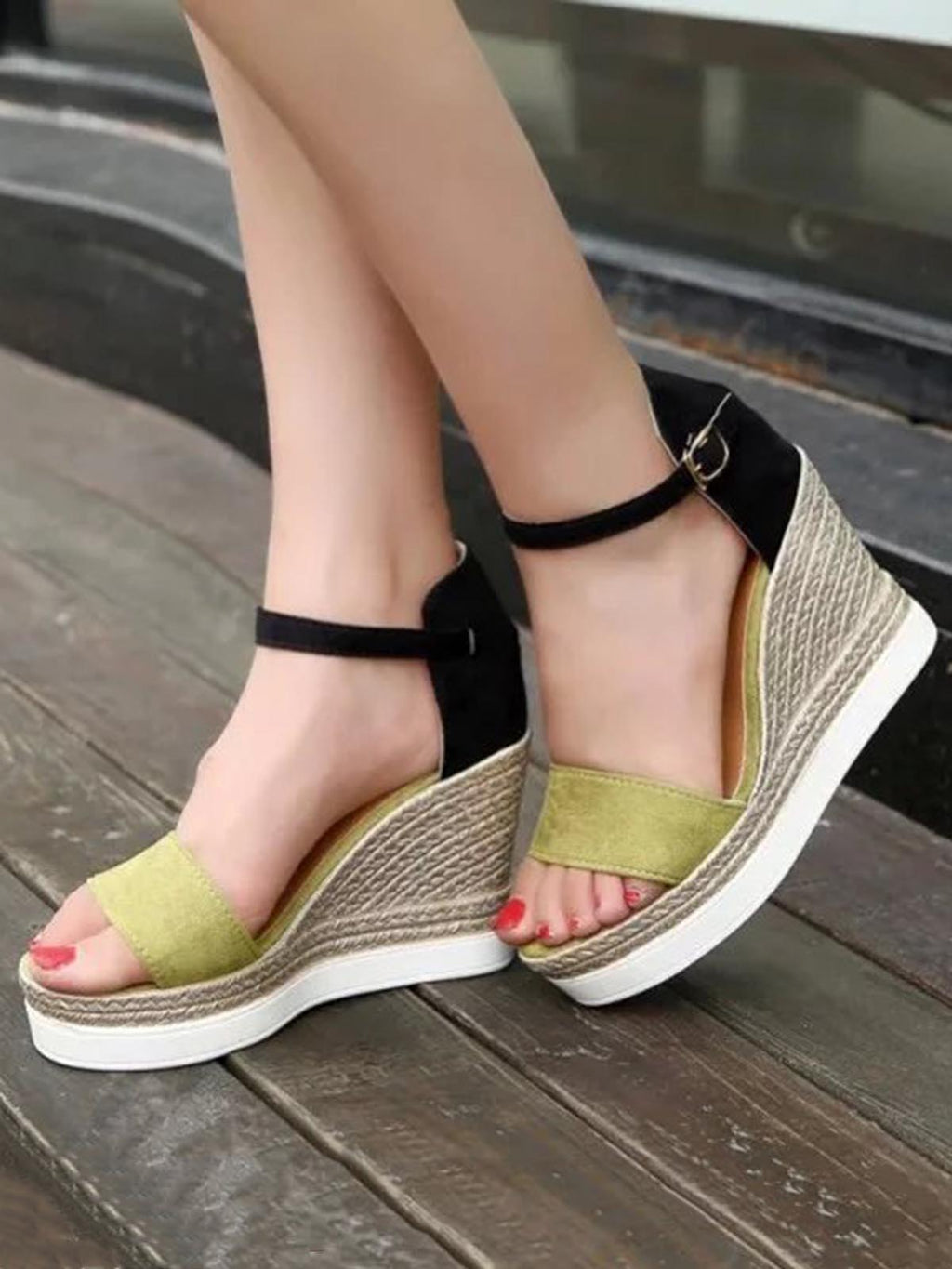 Lady Shoes High Heels Platform Shoes Open Toe Wedges Shoes