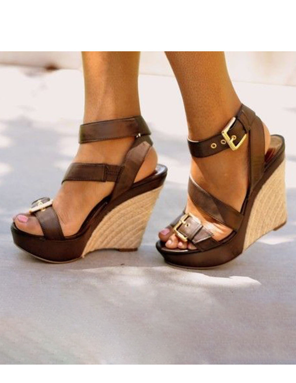 Ankle Straps Wedge Sandals