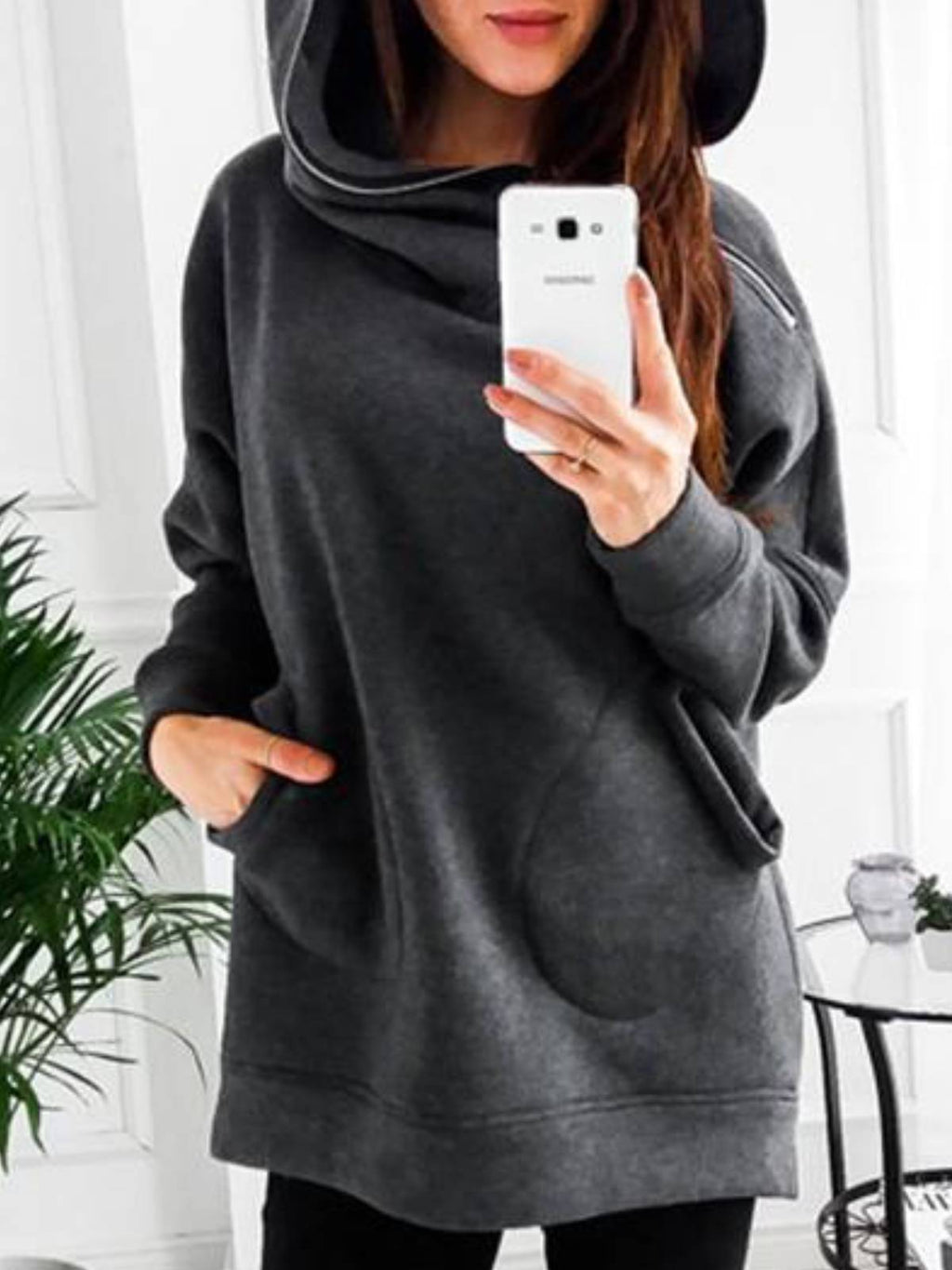 Cotton Hoodie Casual Shirts & Tops
