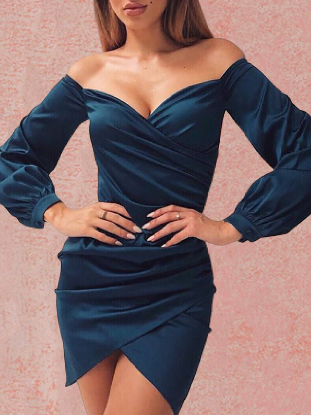 Long Sleeve Sexy Strapless Dresses