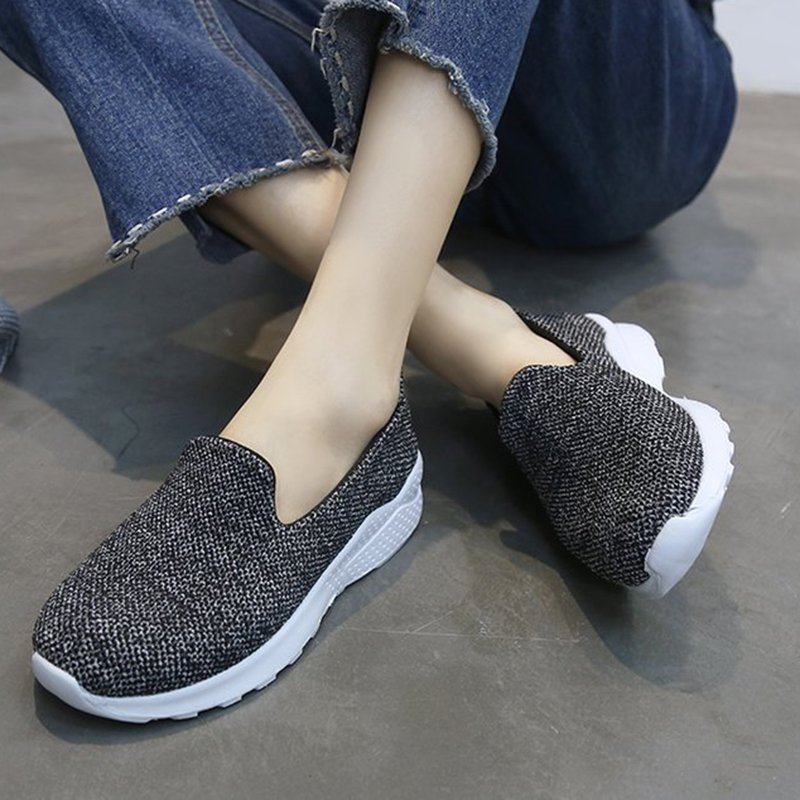 272abee7e08c Women Mesh Fabric Sneakers Casual Comfort Slip On Shoes