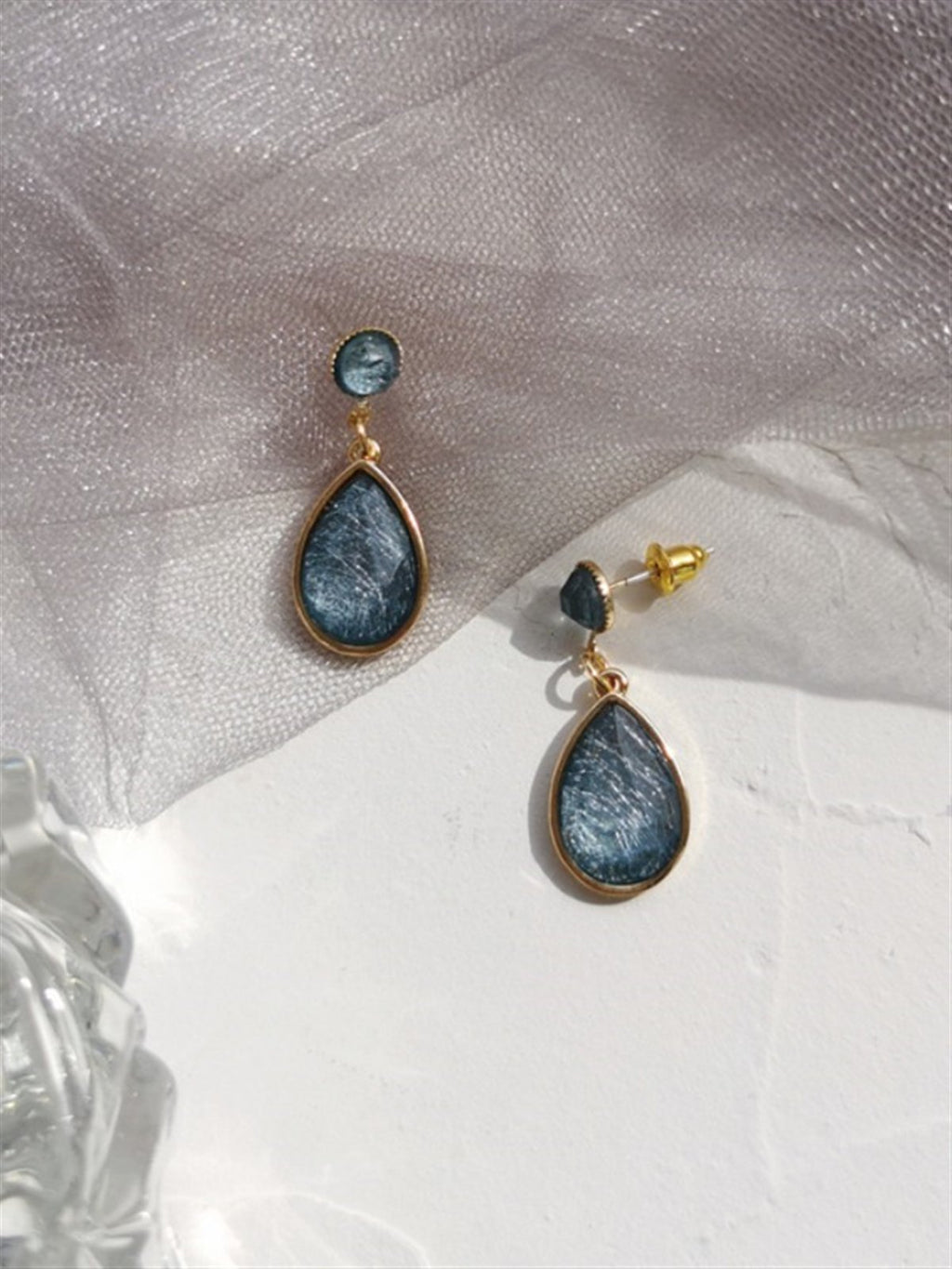 Casual Basic Daily Gentle Classic Blue Stone Earings