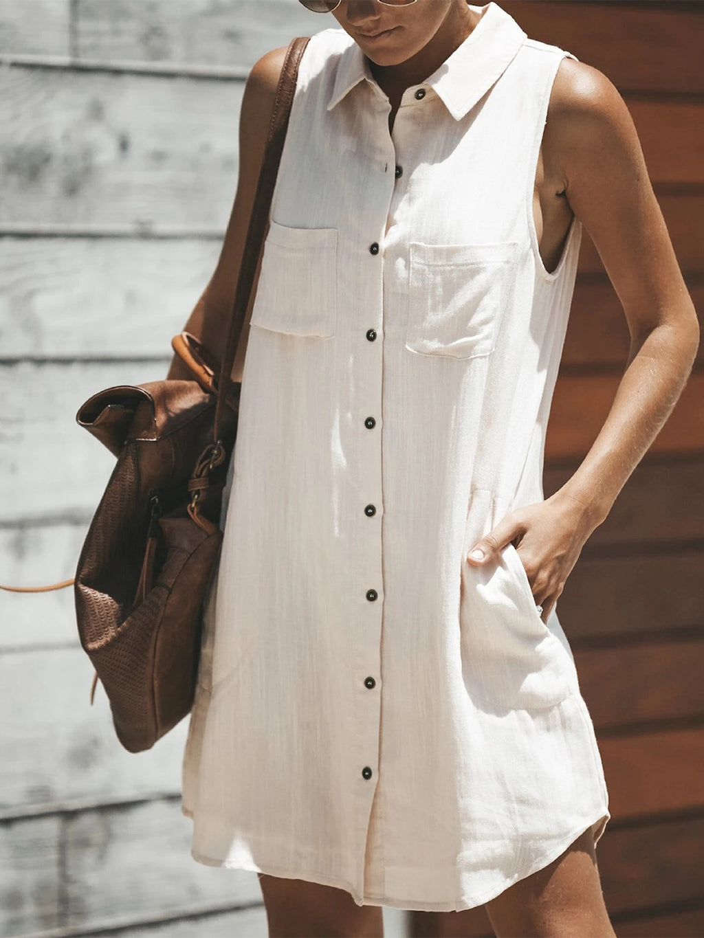 Casual Shift Sleeveless Boho Dresses