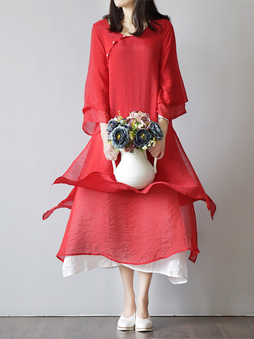 Fashion Elegant Paneled Vintage Dress