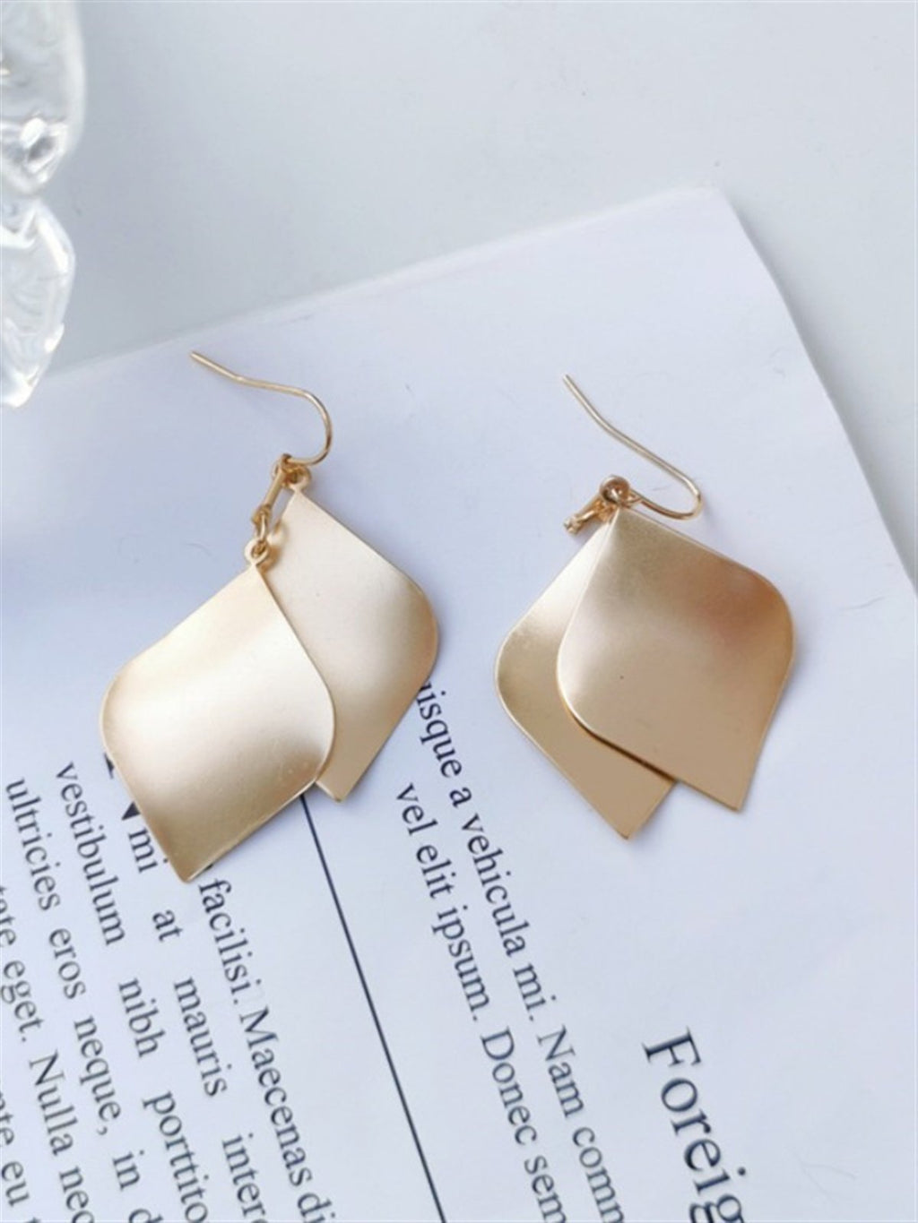 Casual Basic Daily Classic Gentle Golden Earings