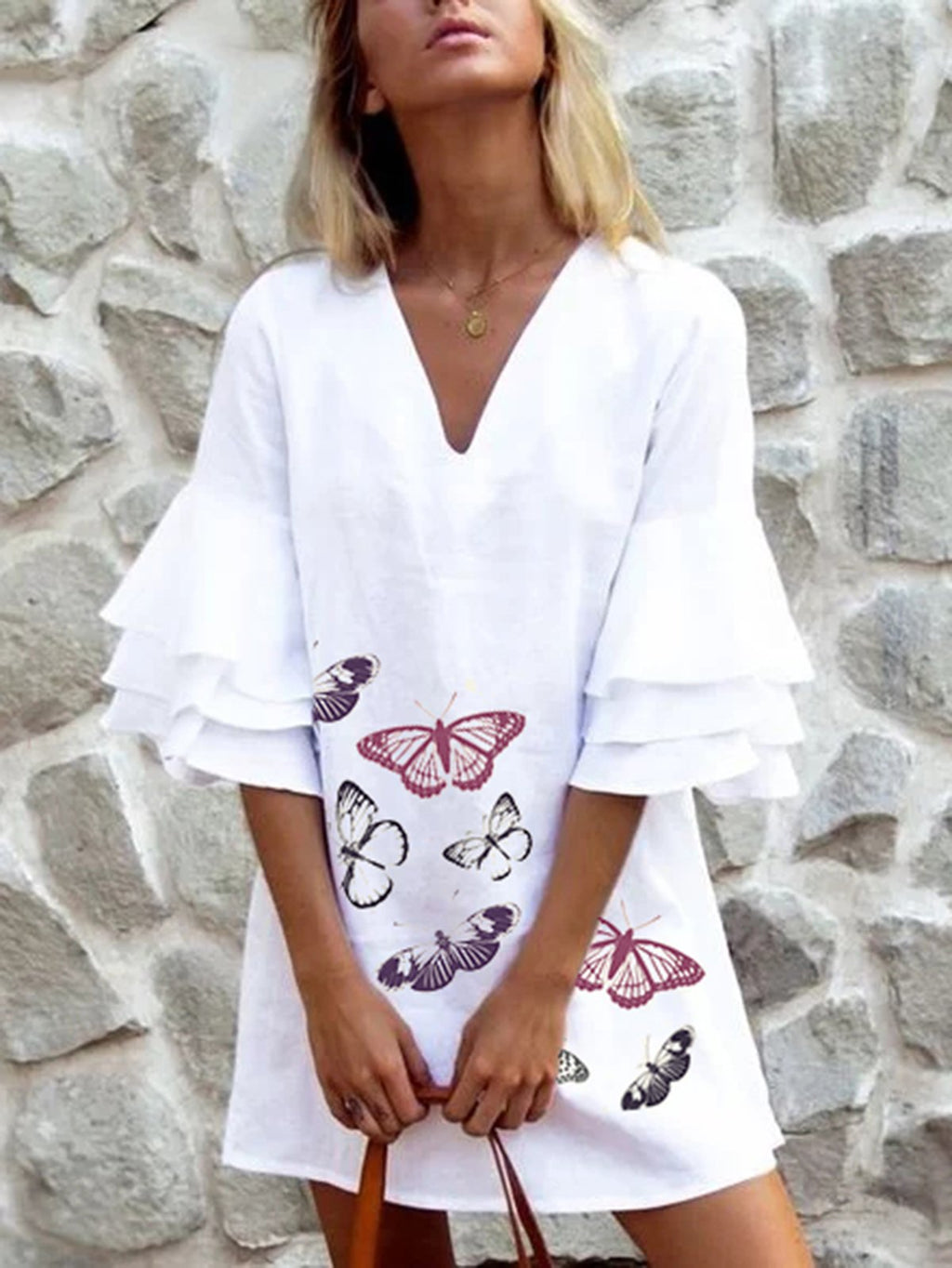 Holiday Linen Half Sleeve Dresses