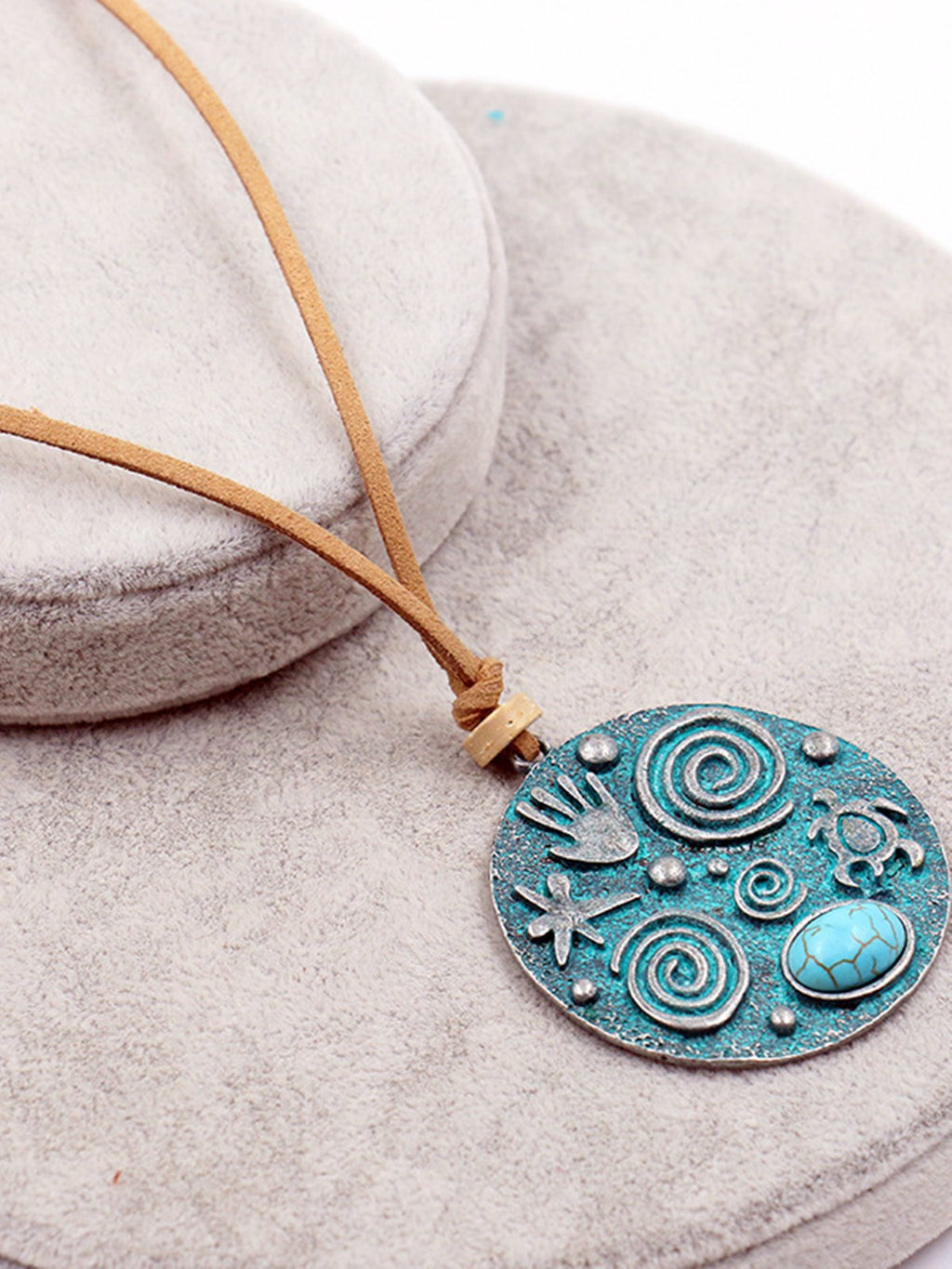 Green Blue Vintage Alloy Necklaces