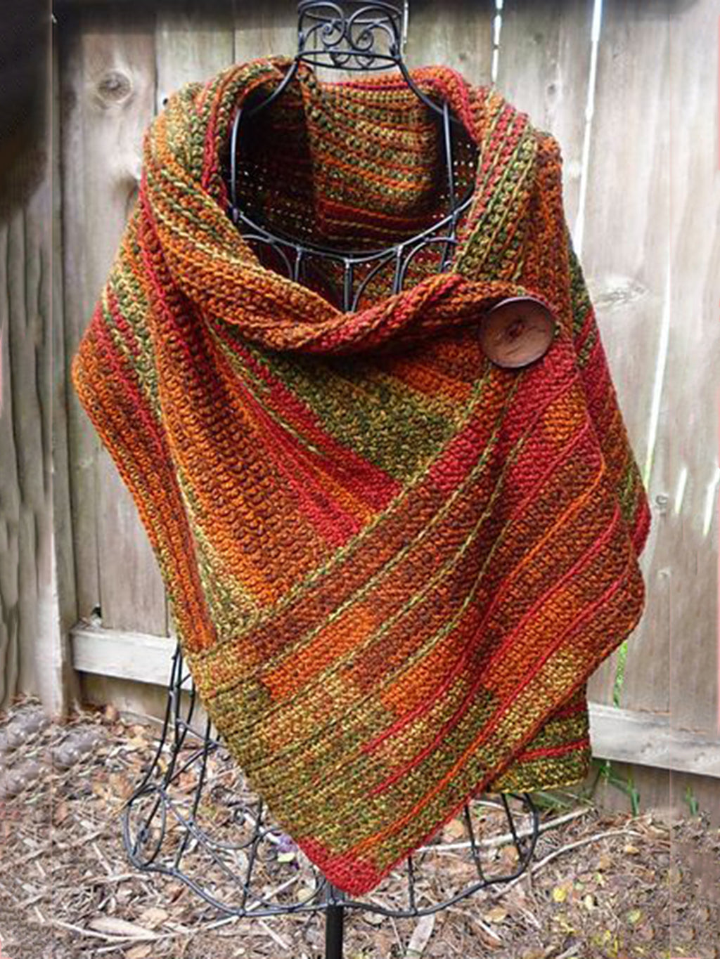 Red Holiday Knitted Color-Block Scarves & Shawls