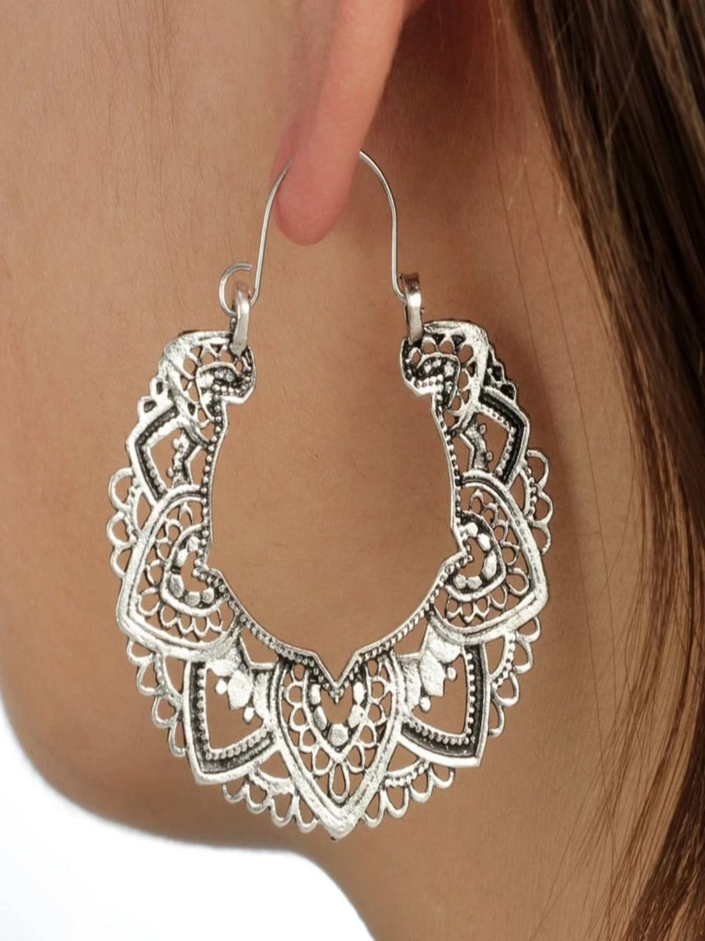 Silver Casual Alloy Earrings