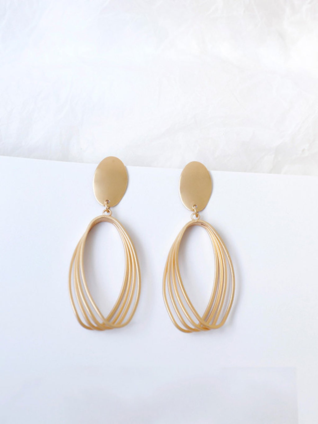 Golden Casual Alloy Earrings