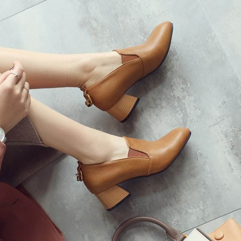 Women Casual Spring/fall Chunky Heel Pumps