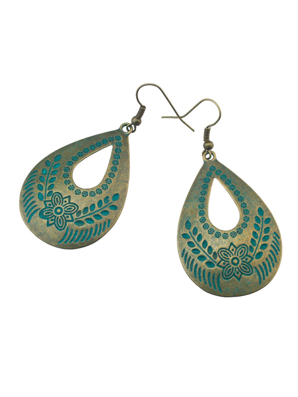 Green Vintage Alloy Earrings