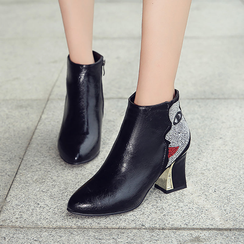 Date Spring/fall Chunky Heel Boots