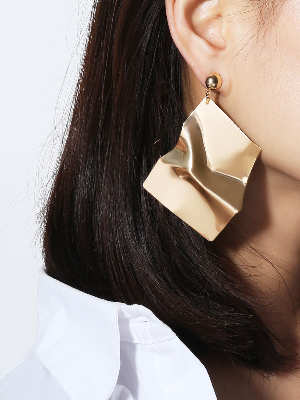 Geometric Asymmetric Alloy Earrings Rikkishop