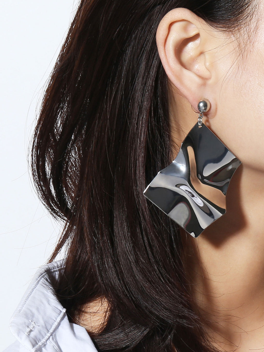 Geometric Asymmetric Alloy Earrings