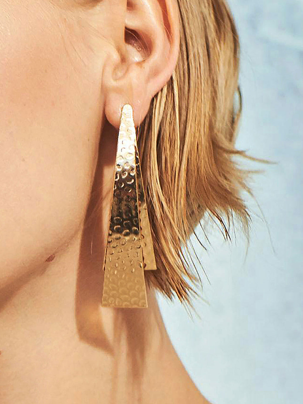 Solid Color Alloy Geomatric Triangle Earrings