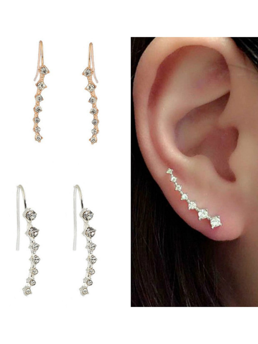 Girls Seven Diamonds Long Earrings Rikkishop