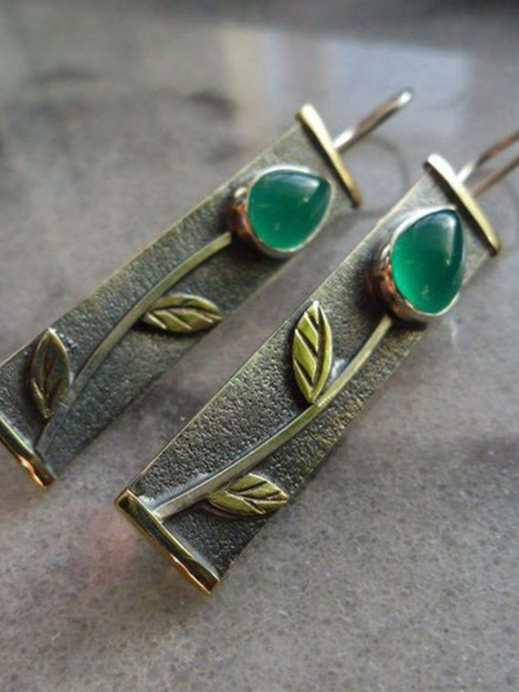 Green Earrings Rikkishop