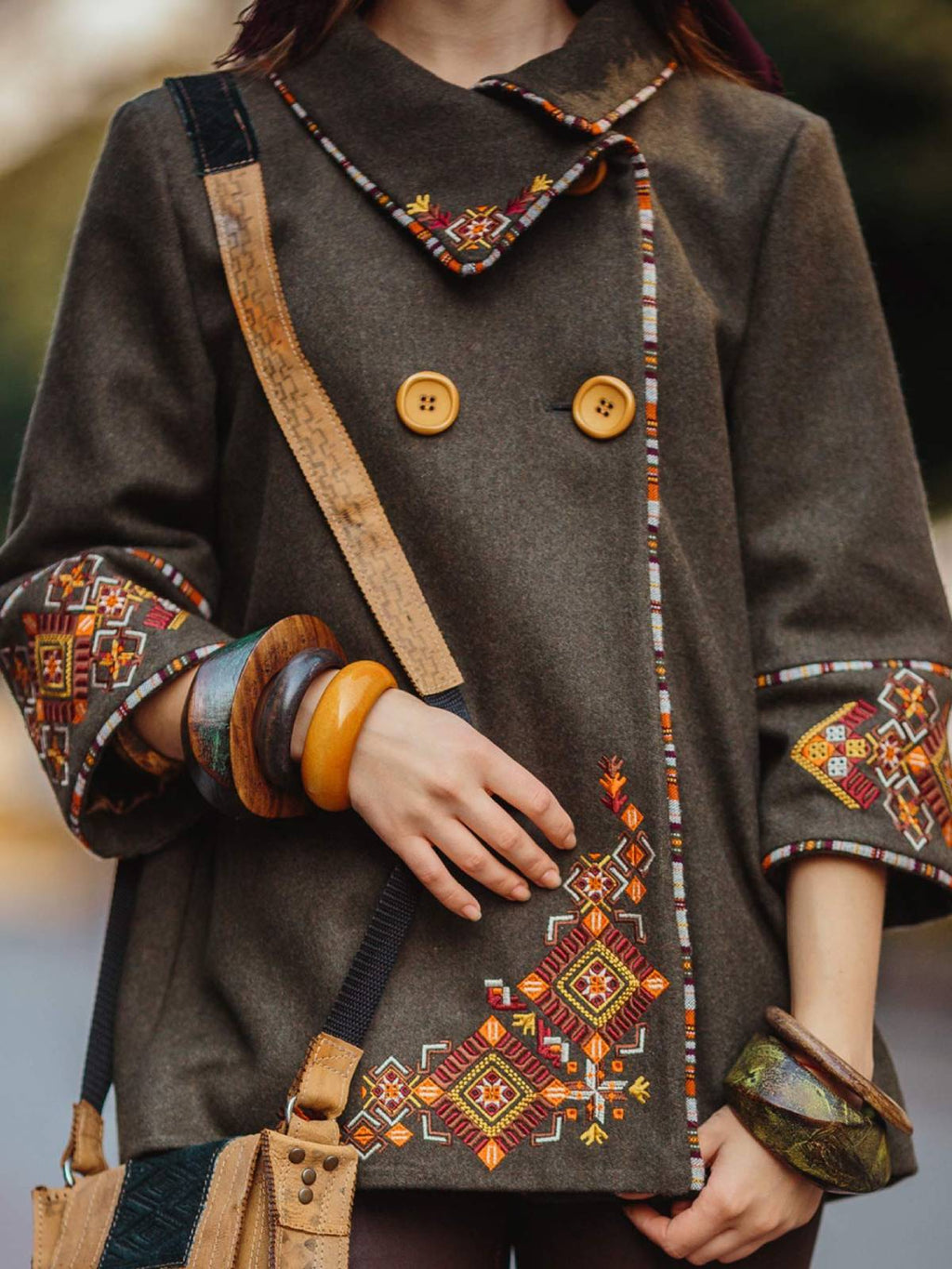 Coffee Casual Tribal Outerwear