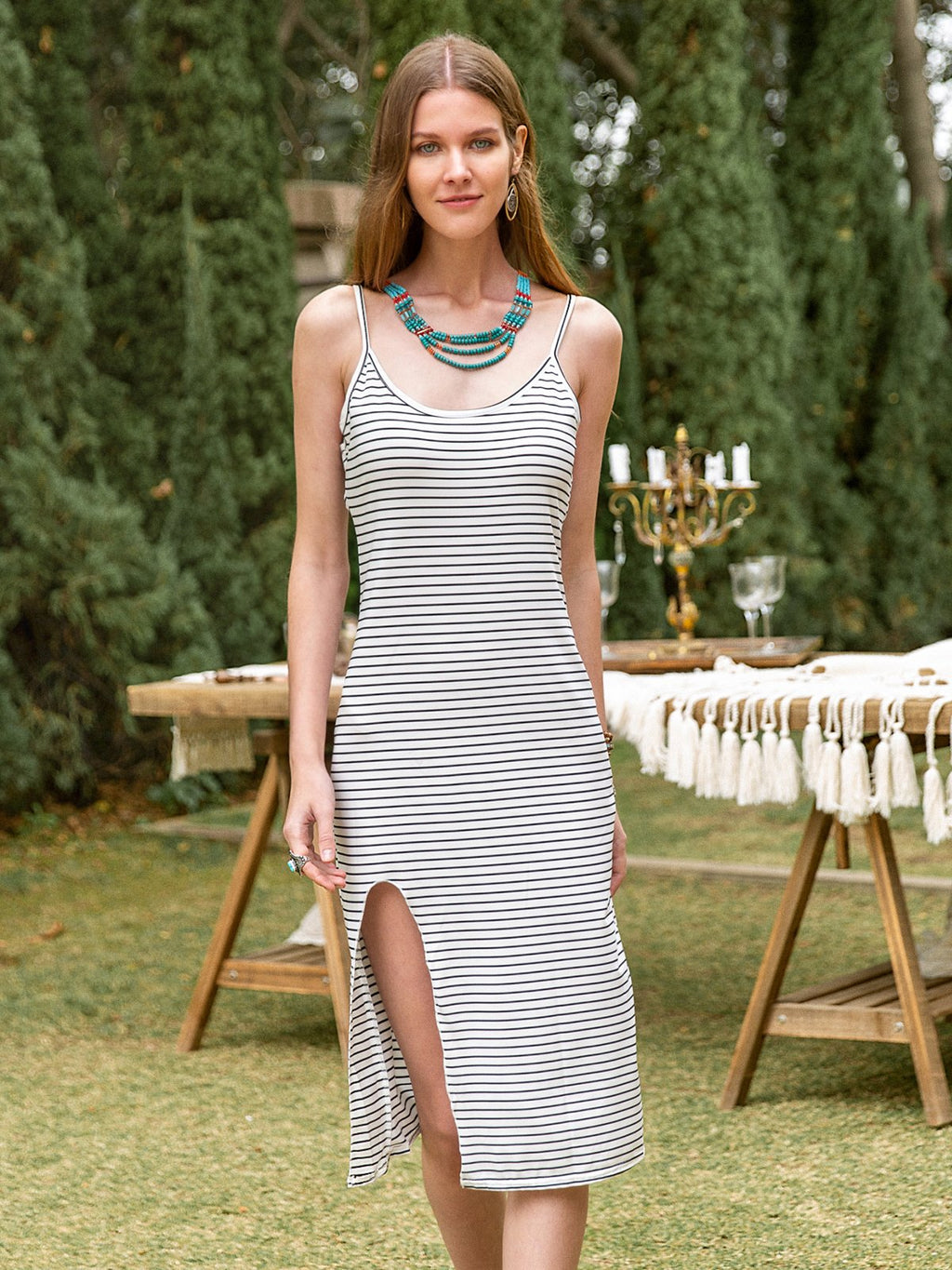 Women Casual Basic Slit Dresses