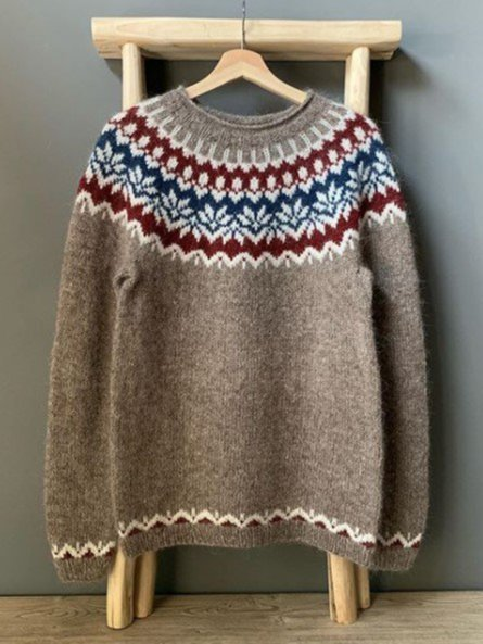 Christmas Long Sleeve Boho Sweater