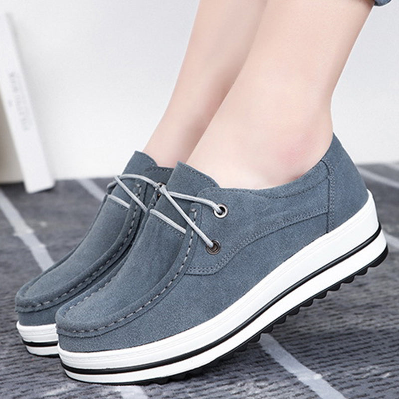Women Casual Platform Creepers Slip On Shoes