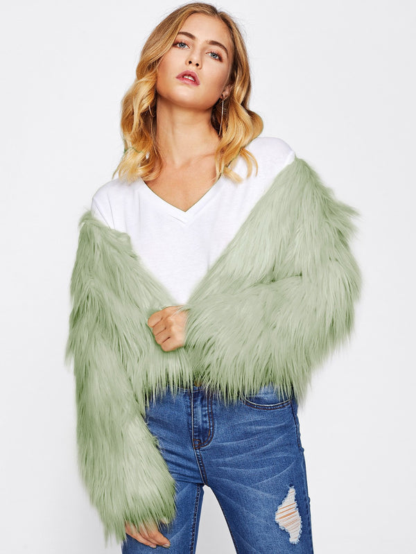 VF Fluffy  Coat - Vogue Forest