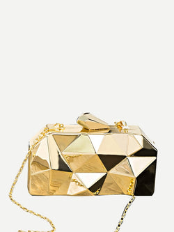 VF Geometric Hardcase Clutch Bag - Vogue Forest