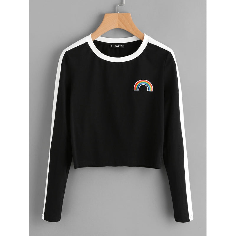 VF Rainbow Patch Crop Tee - Vogue Forest