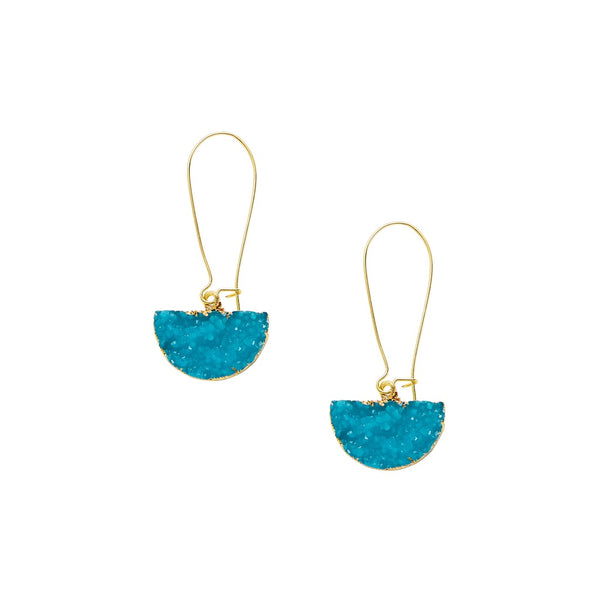 VF Half Circle Design Drop Earrings - Vogue Forest
