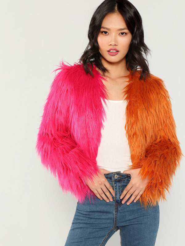 VF Two Faux Fur Coat