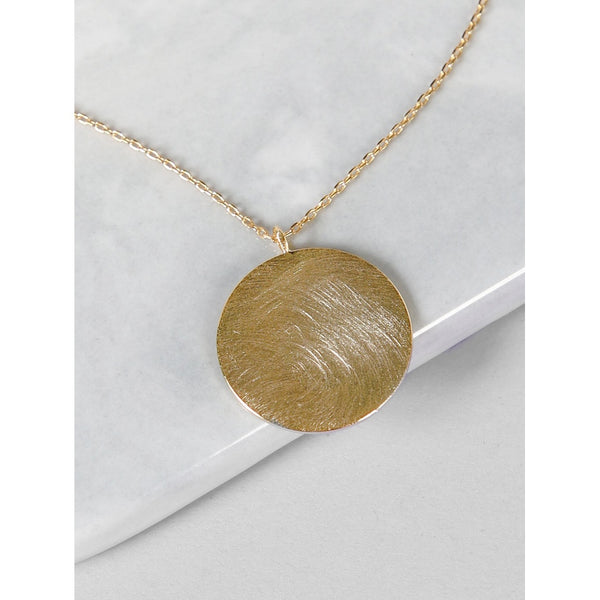 VF Circle Pendant Gold Necklace - Vogue Forest
