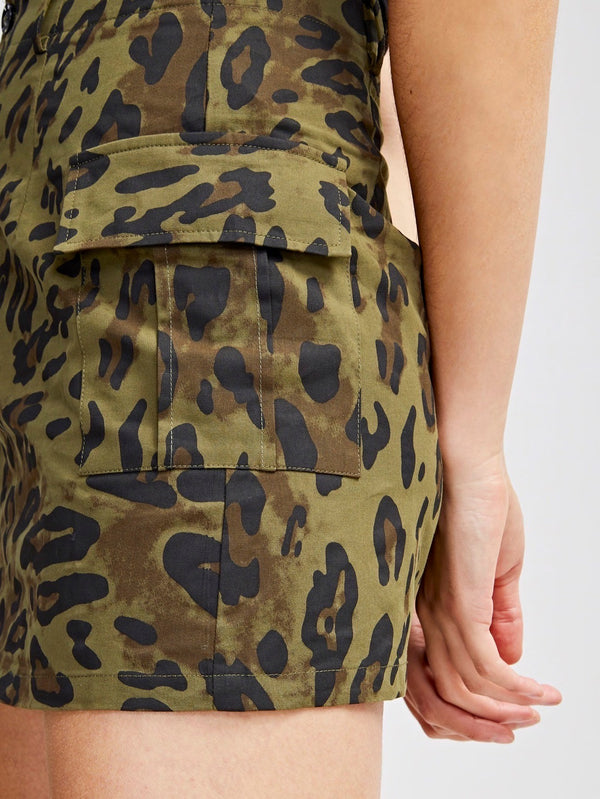 VF Leopard Print Bodycon Skirt - Vogue Forest