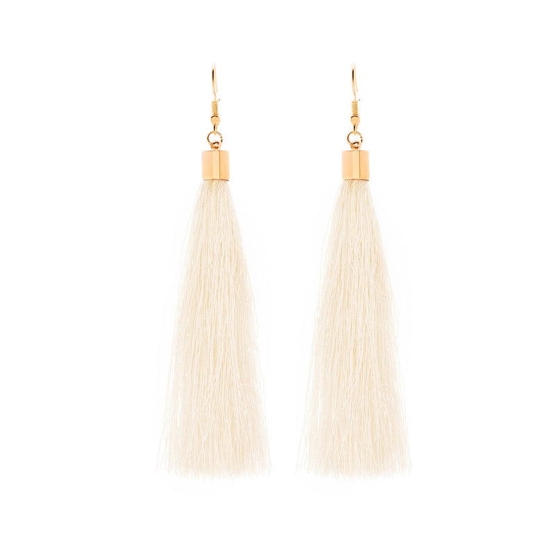 VF Long Tassel Earrings - Vogue Forest