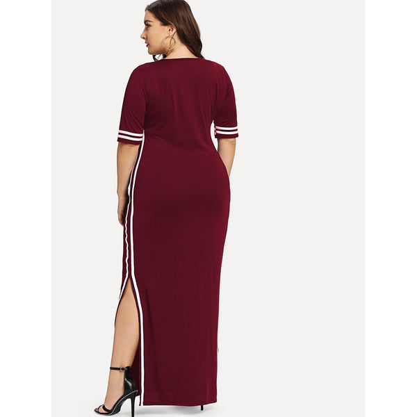 VF Plus Split Dress - Vogue Forest