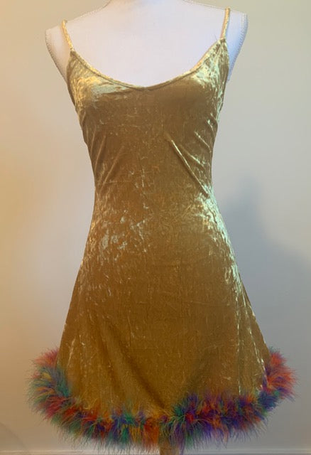 VF Vintage Velvet Mini Dress - Vogue Forest