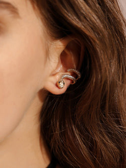 VF Snake Shaped Stud Earrings