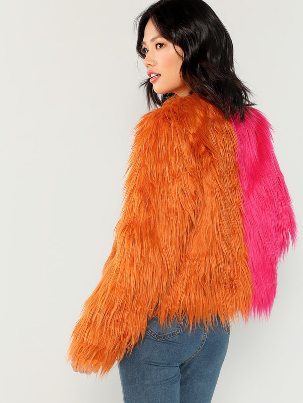 VF Two Faux Fur Coat - Vogue Forest