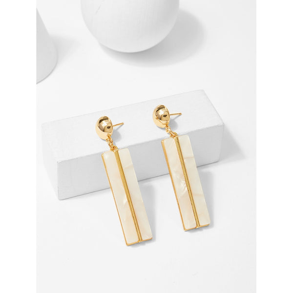 VF Bar & Ball Design Drop Earrings - Vogue Forest
