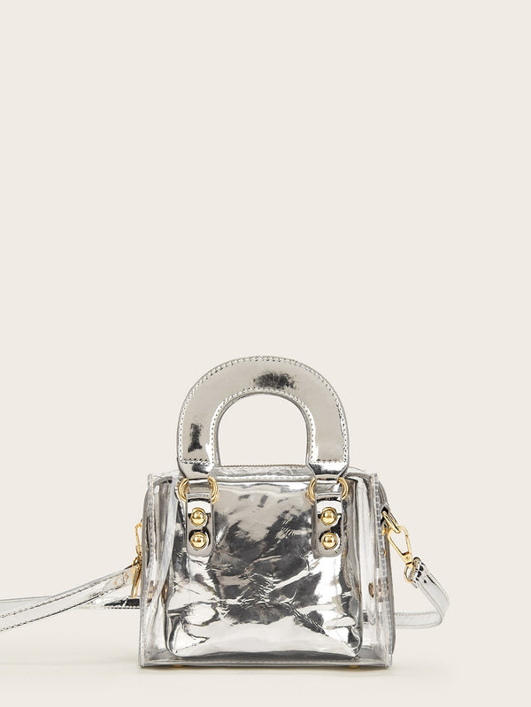 VF Metallic Detail Satchel Bag - Vogue Forest