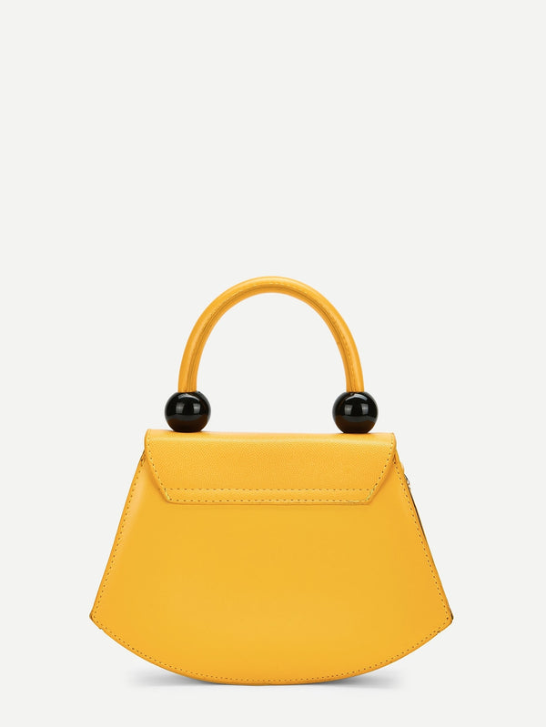 VF Ball Detail Plain Satchel Bag - Vogue Forest