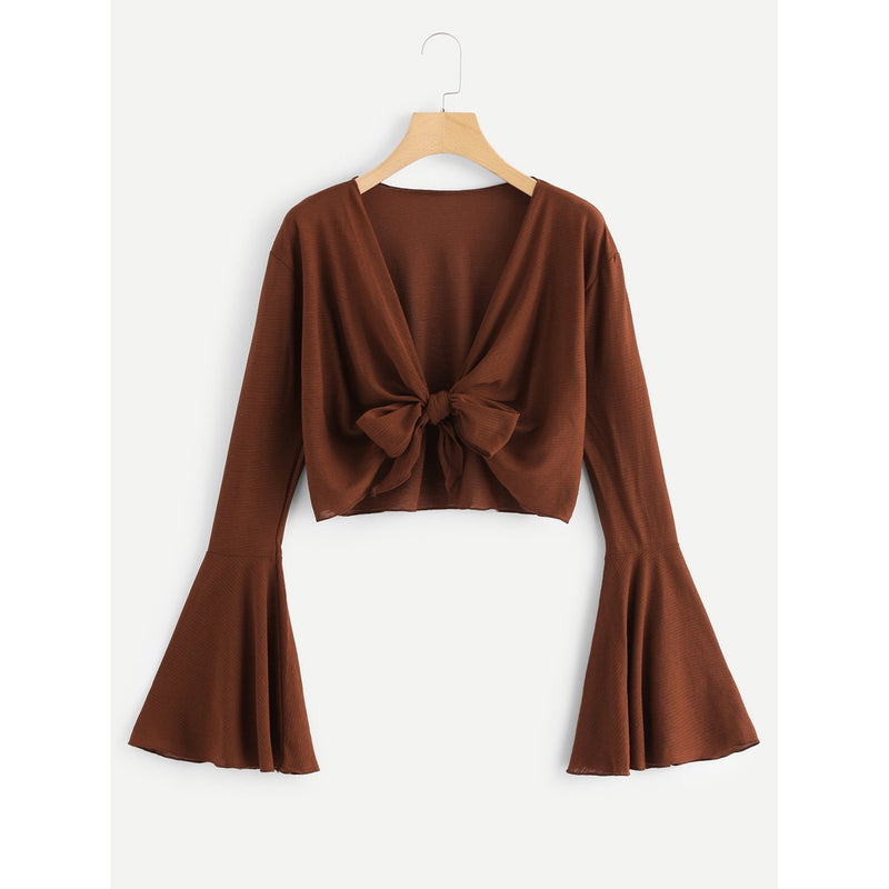VF Flounce  Blouse - Vogue Forest