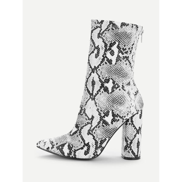 VF Snake  Heeled Boots - Vogue Forest