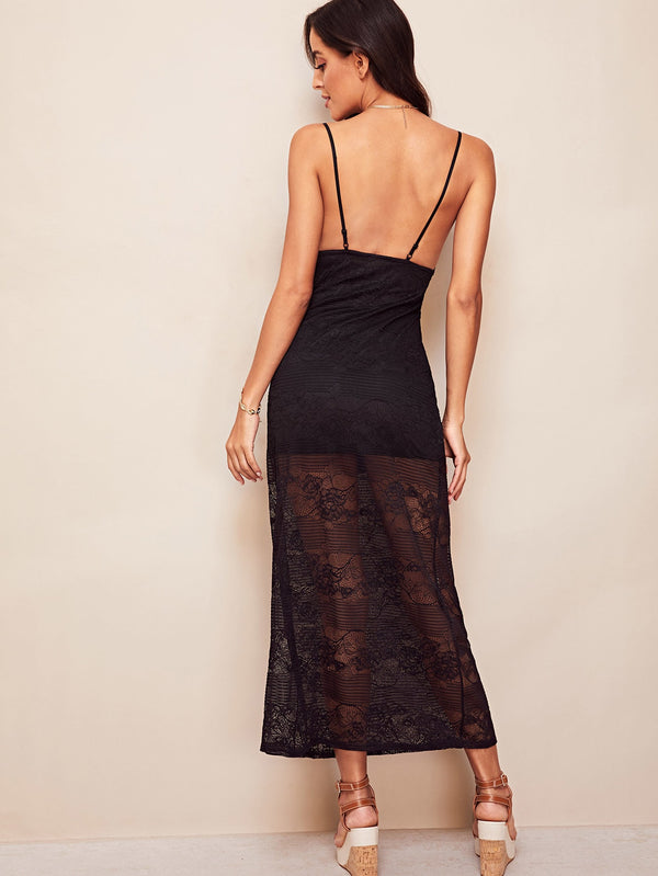 VF Backless Lace Cami Dress - Vogue Forest