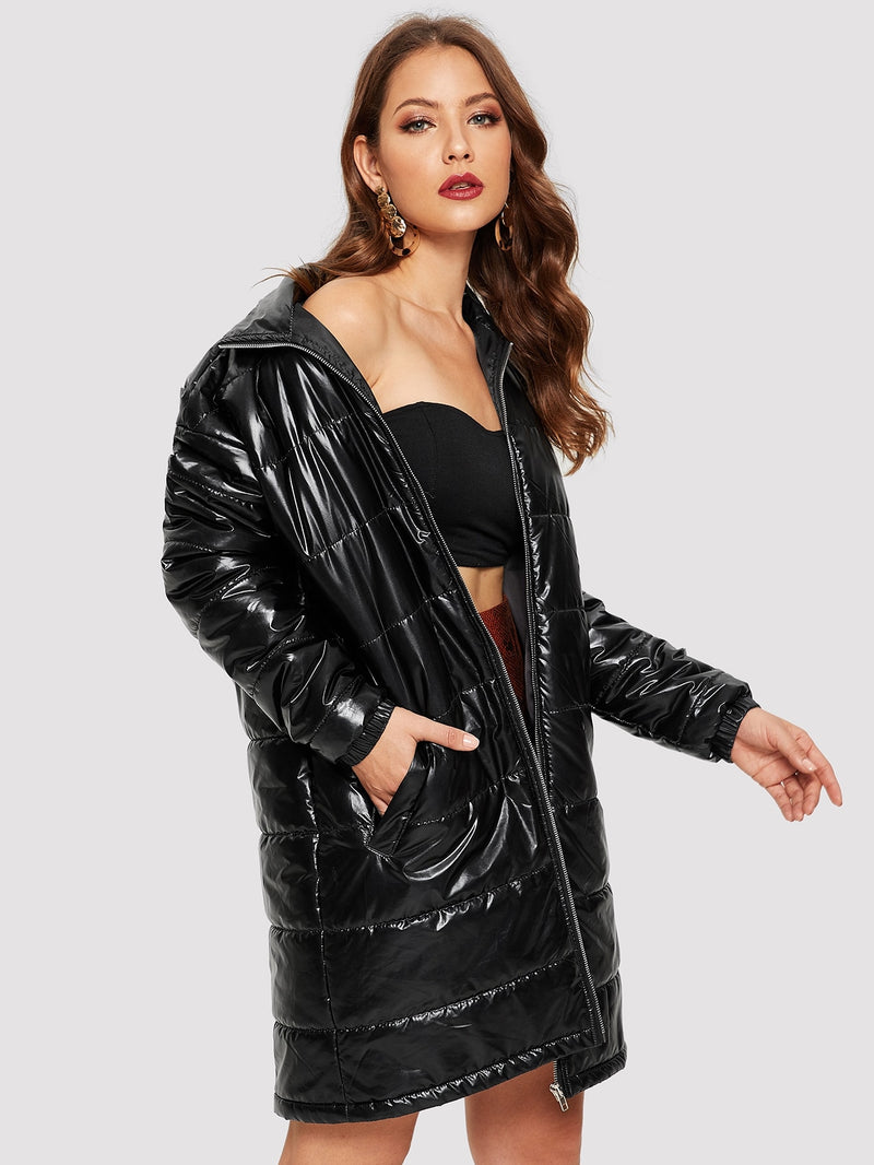 VF Pocket Side Zip Up Puff Coat