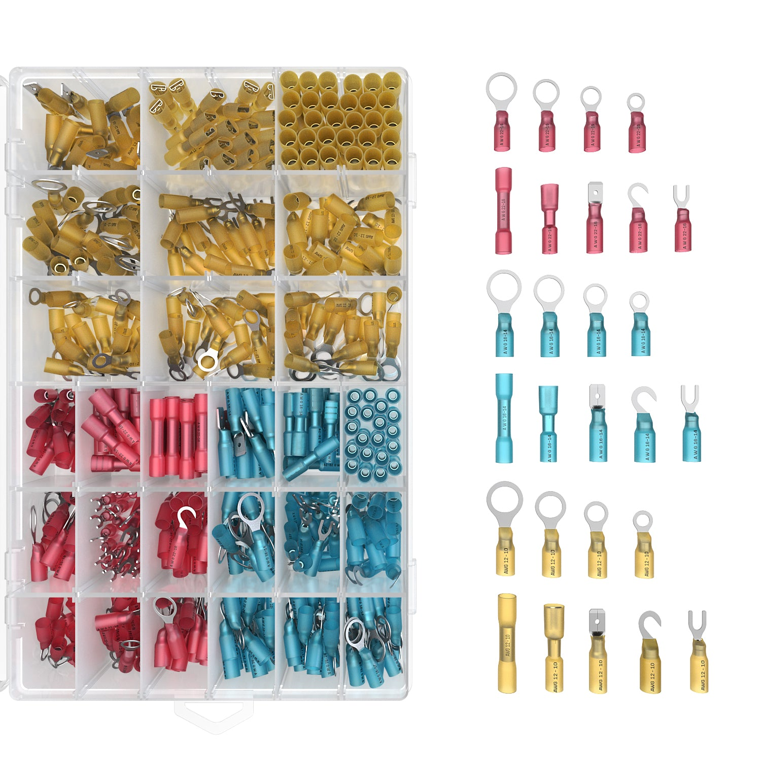 570 Piece Heat Shrink Wire Connector Kit