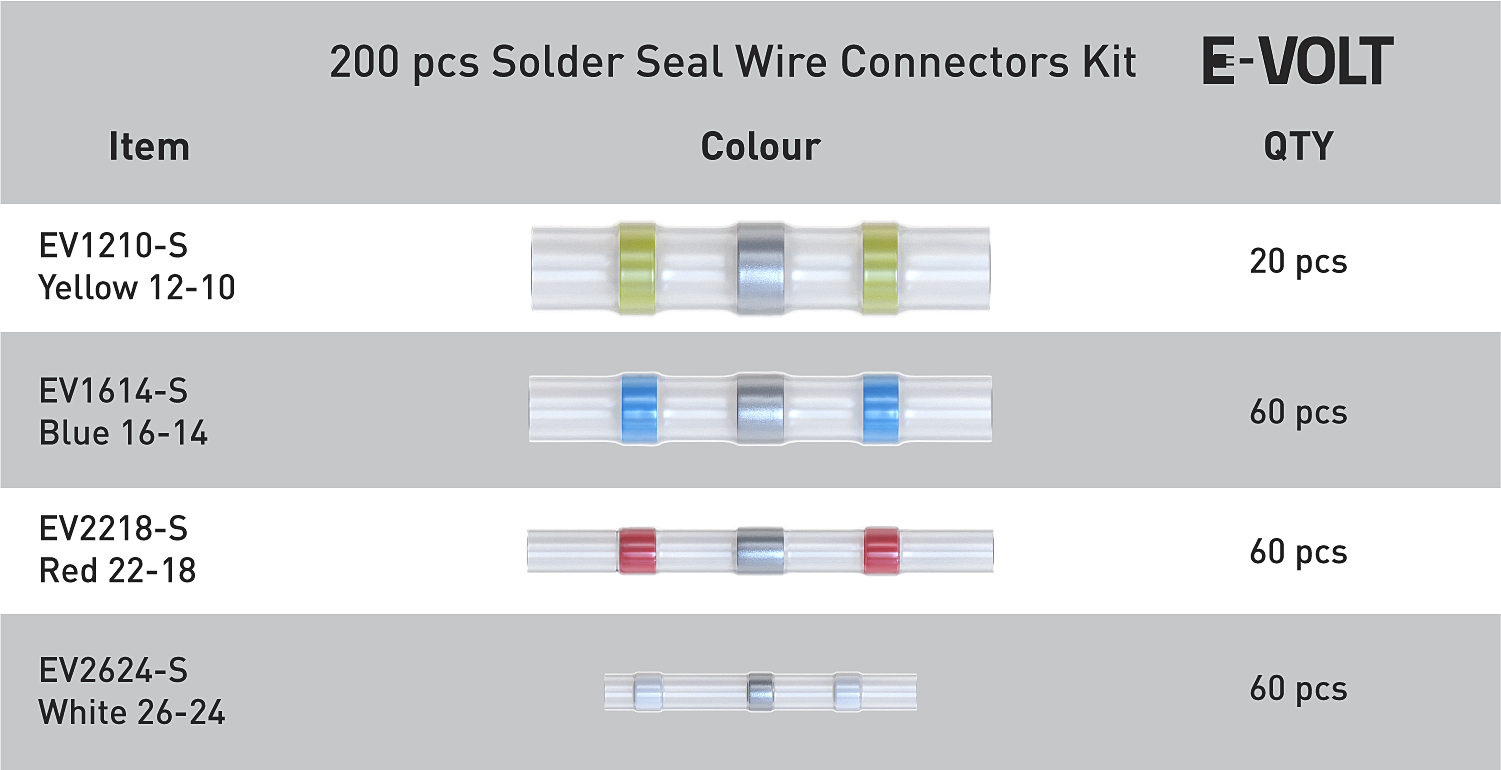 200 PCS Solder Seal Wire Connectors