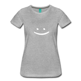 Smiley Face Tee - heather gray